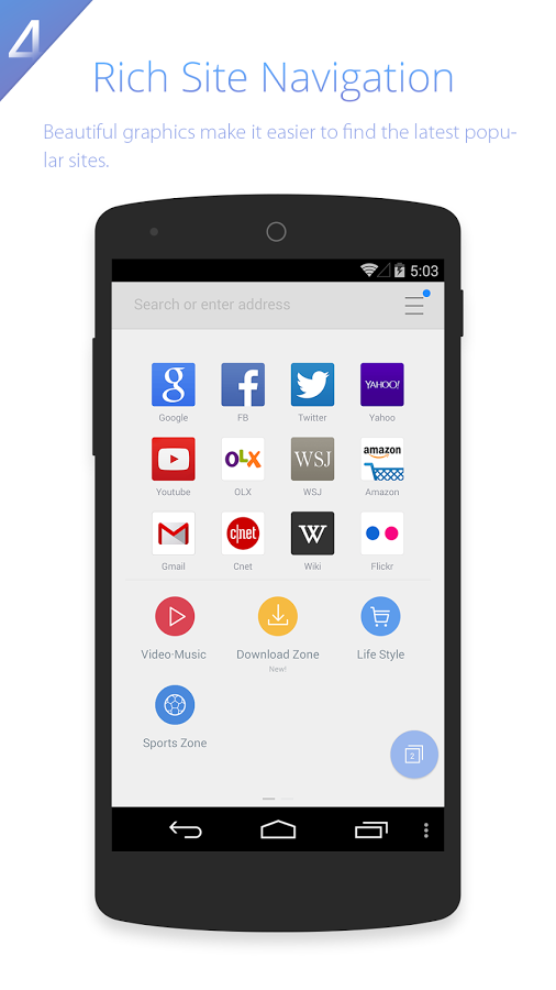 UC Browser HD4 - Find Apps